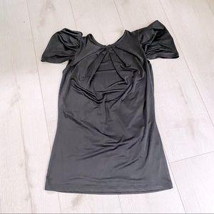 Vintage 90's Black Dressy Top w/ Open Back
